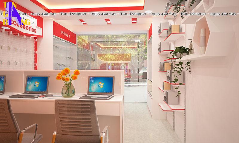 Thiết kế cải tạo cửa hàng điện thoại ở Tân Phú thành phố Hồ Chí Minh