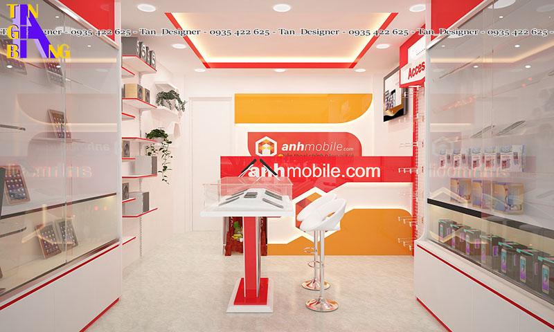 Thiết kế cải tạo shop điện thoại ở Tân Phú thành phố Hồ Chí Minh