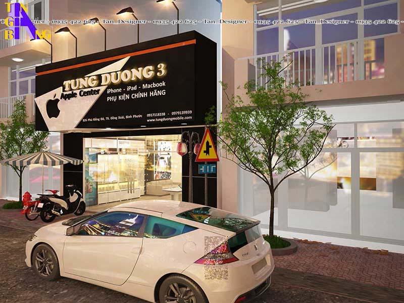Thiết kế shop điện thoại đẹp ở Bình Phước