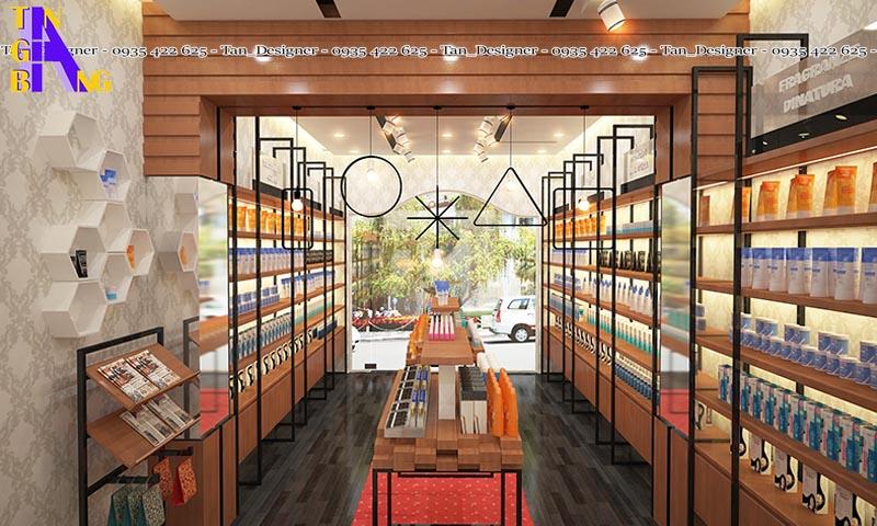 Thiết kế shop mỹ phẩm đẹp giá rẻ ở thành phố Hồ Chí Minh