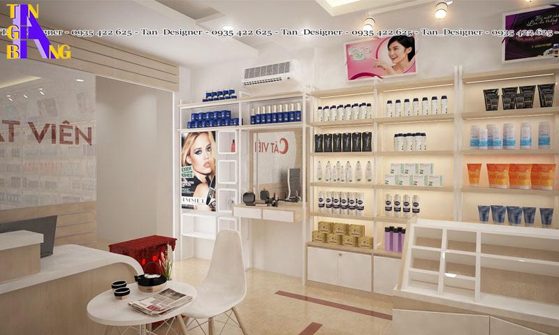 Thiết kế shop mỹ phẩm đẹp ở Đồng Nai