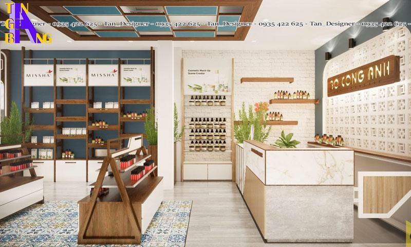 Thiết kế shop mỹ phẩm đẹp tại thành phố Hồ Chí Minh