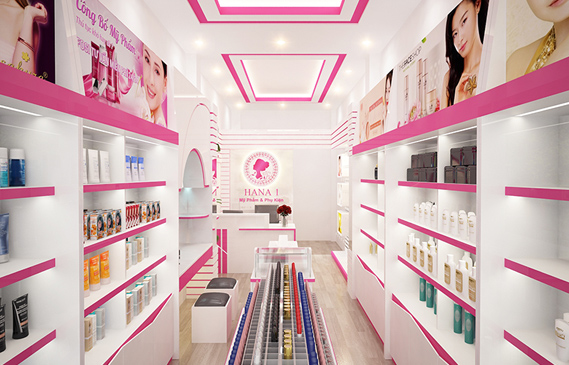 Thiết Kế Shop Mỹ Phẩm Đẹp Ở Biên Hòa Đồng Nai