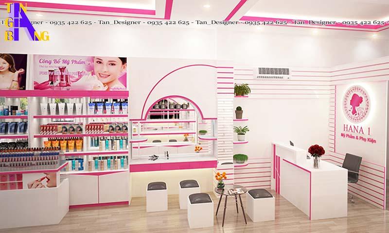 Thiết kế shop mỹ phẩm ở Biên Hòa Đồng Nai