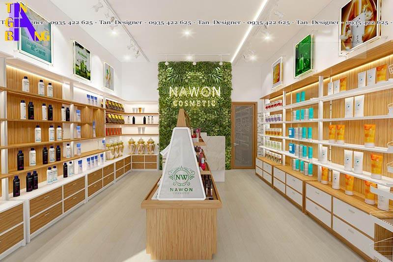 Thiết kế shop mỹ phẩm đẹp, giá rẻ ở Sài Gòn - Tân Gia Bang Decor