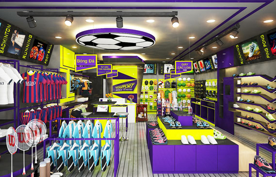 ✅ Thiết Kế Shop Thể Thao Đẹp Ở Thành Phố Hồ Chí Minh