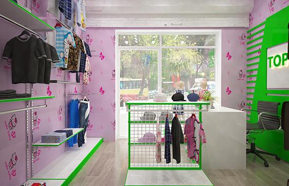 Bật Mí Bí Quyết Thiết Kế Shop Thời Trang Trẻ Em Mini