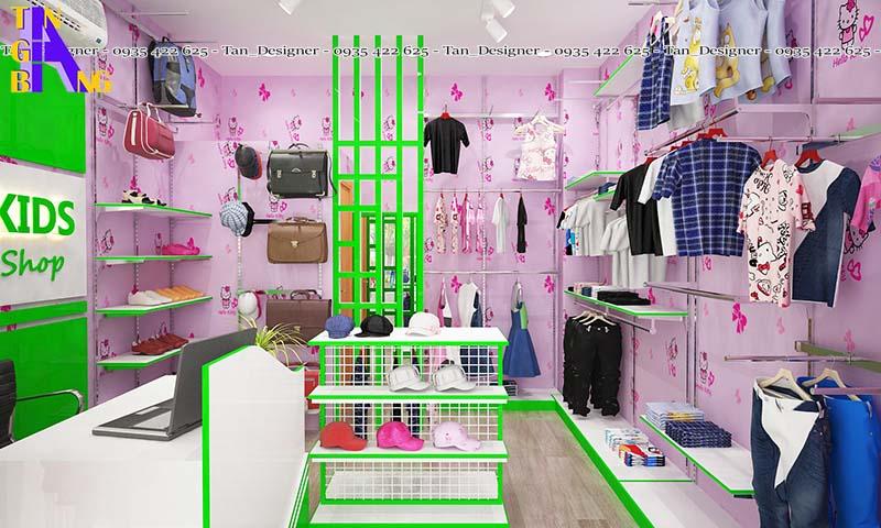 Thiết kế shop thời trang trẻ em TOPKIDS ở Đồng Nai