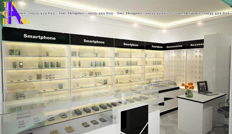 thiết kế shop điện thoại đẹp ở thành phố Hồ Chí Minh độc và lạ