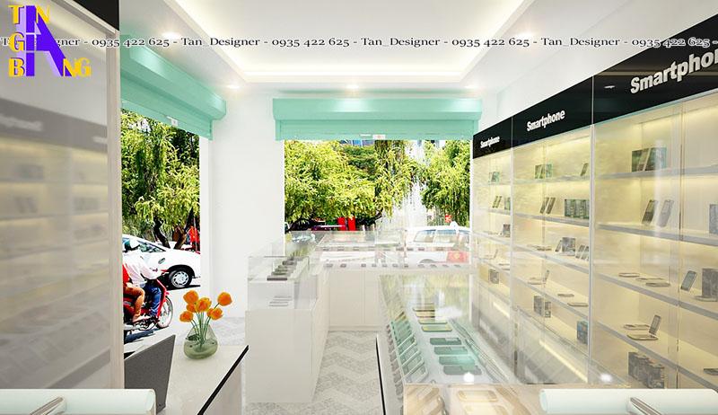 thiết kế shop điện thoại đẹp ở thành phố Hồ Chí Minh