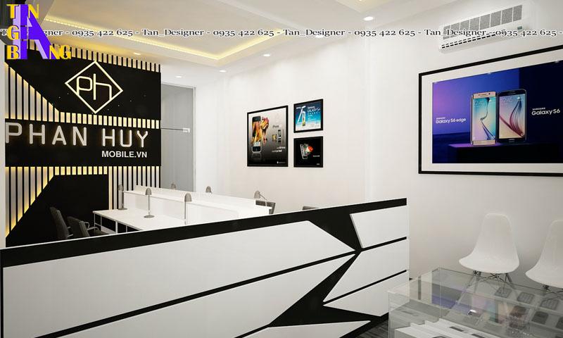 Thiết kế shop điện thoại đẹp tại Bình Dương