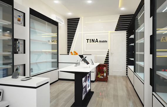 Thiết Kế Shop Điện Thoại Tina