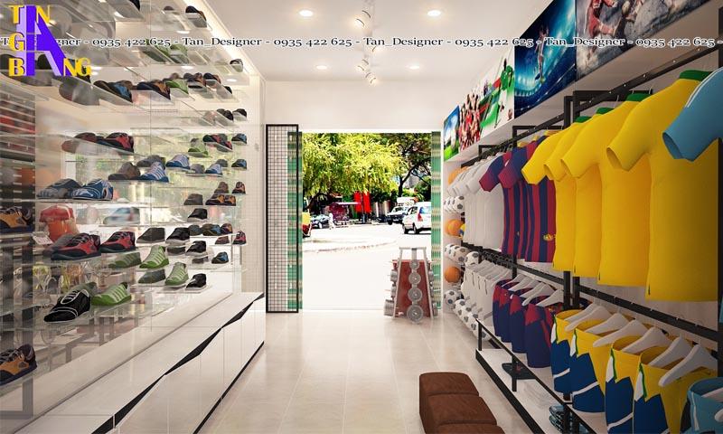 Thiết kế shop thể thao ở quận Tân Bình thành phố hồ chí minh
