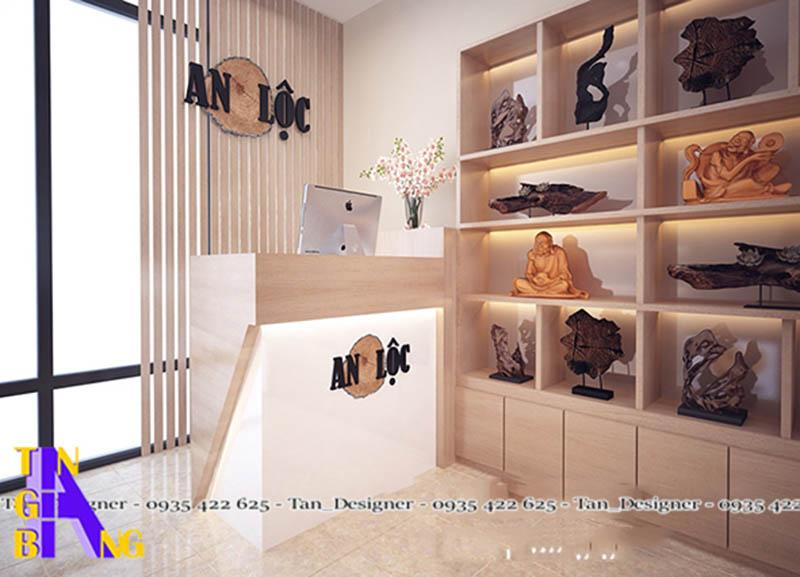 Thiết kế shop trầm hương An Lộc ở quận 6 thành phố Hồ Chí Minh