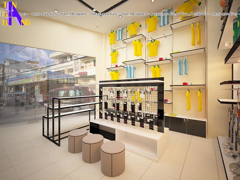 Thiết kế shop thể thao đẹp ở thành phố Hồ Chí Minh