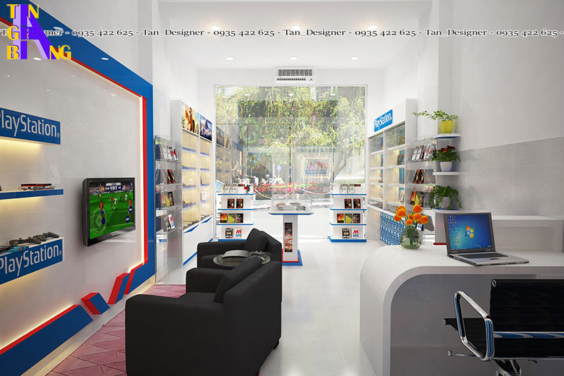 Thiết kế shop dụng cụ, phụ kiện và thiết bị chơi game ở TpHCM