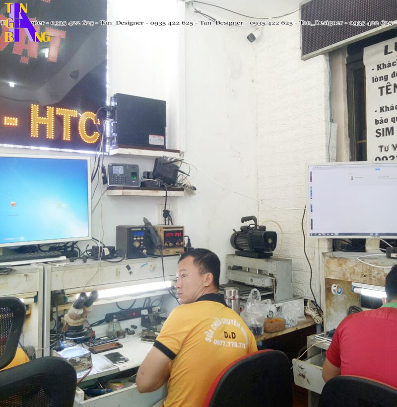Thiết kế shop điện thoại đẹp ở tại TpHCM