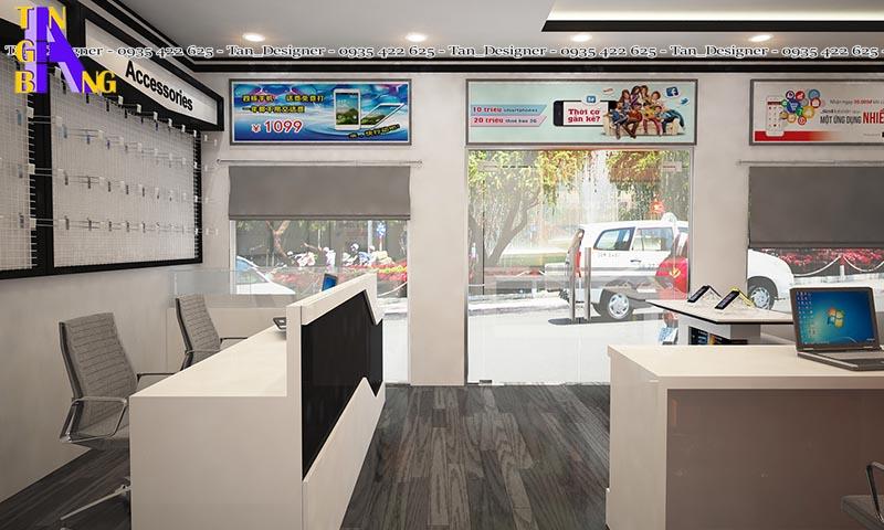 Thiết kế shop điện thoại phong cách mới ở Bình Phước