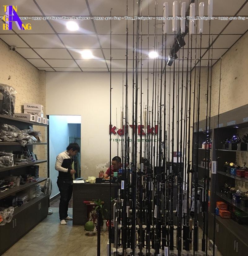 Thiết kế shop đồ câu ở TpHCM