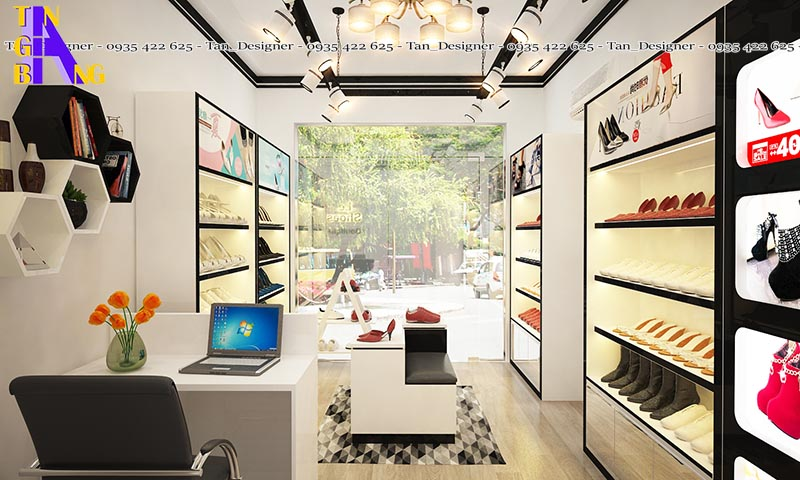 thiết kế shop giày phong cách đẹp ở Cần Thơ