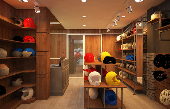 Thiết Kế Shop Nón Bảo Hiểm Chính Hãng Ở TpHCM