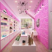 Thiết Kế Shop Mỹ Phẩm PINKY Ở Tp.HCM