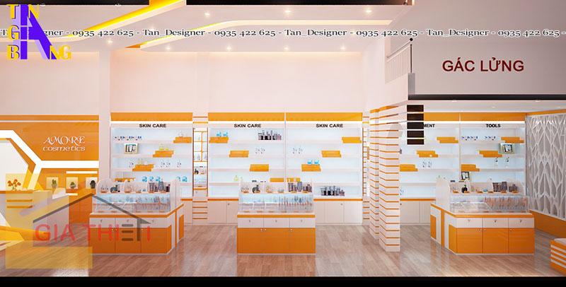 thiết kế shop mỹ phẩm ở TpHCM