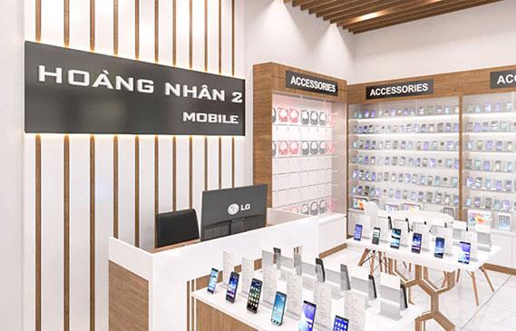 thiết kế shop điện thoại đẹp ở Bình Dương