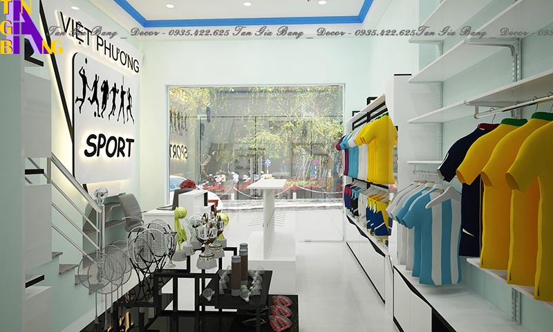 Thiết kế shop thể thao đẹp, giá rẻ ở Nha Trang Khánh Hòa