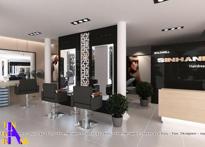 Thiết kế salon tóc đẹp ở Nha Trang