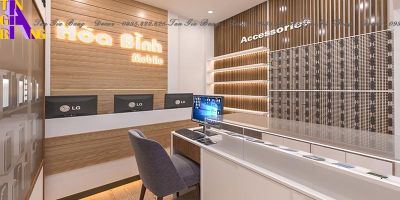 Thiết kế cửa hàng điện thoại ở Cam Lâm - Khánh Hòa