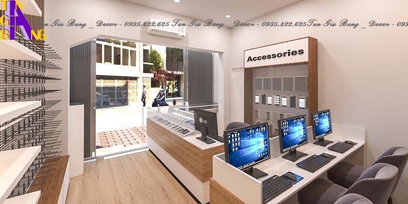 Thiết kế showroom điện thoại ở Cam Lâm - Khánh Hòa