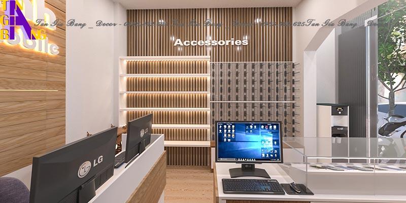 Thiết kế cửa hàng điện thoại ở Cam Lâm