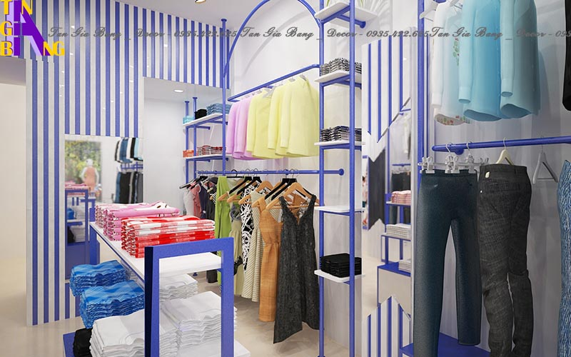 Thiết kế shop thời trang ở Long An