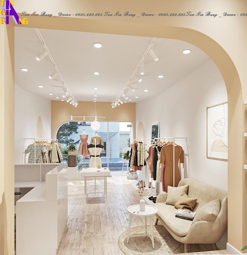Thiết kế shop thời trang ở Tp. Pleiku tỉnh Gia Lai