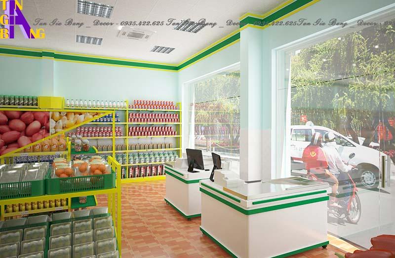 Thiết kế siêu thị mini ở Long An