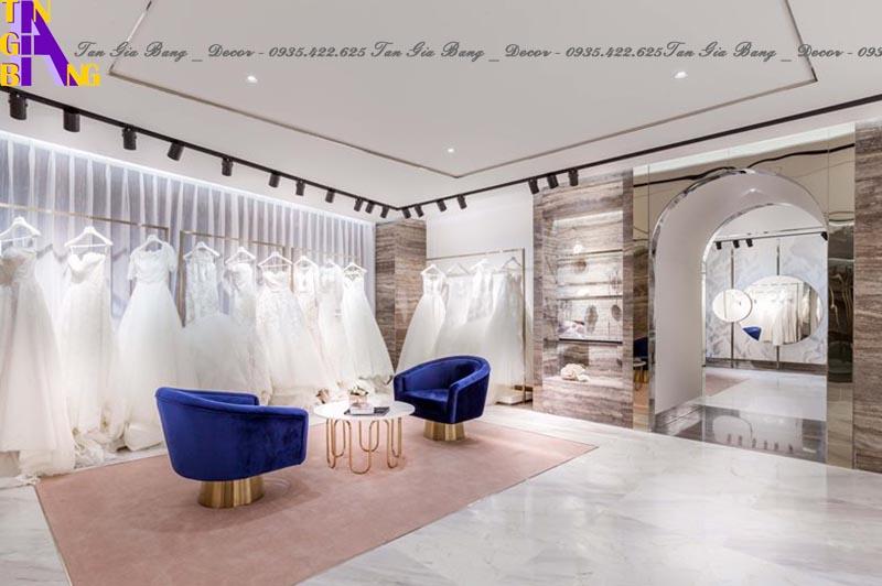 Thiết kế shop áo cưới đẹp ở TP. Thủ Đức