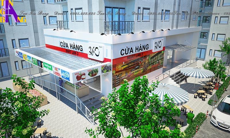 Thiết kế siêu thị - Supermarket 360 ở TpHCM