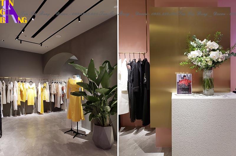 Thiết kế cửa hàng thời trang ở Bình Dương