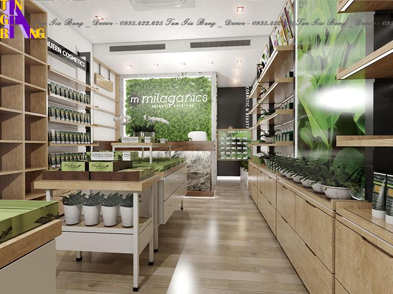Thiết kế cửa hàng mỹ phẩm ở Thủ Đức