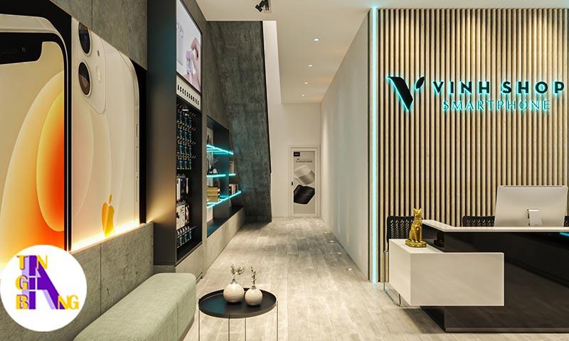 Thiết kế shop điện thoại đẹp và chuyên ở Đồng Nai