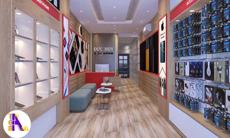 Thiết kế shop điện thoại đẹp ở Phan Thiết - Bình Thuận