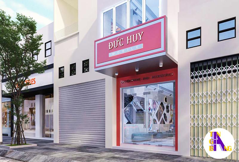 Thiết kế shop điện thoại đẹp ở Bình Thuận