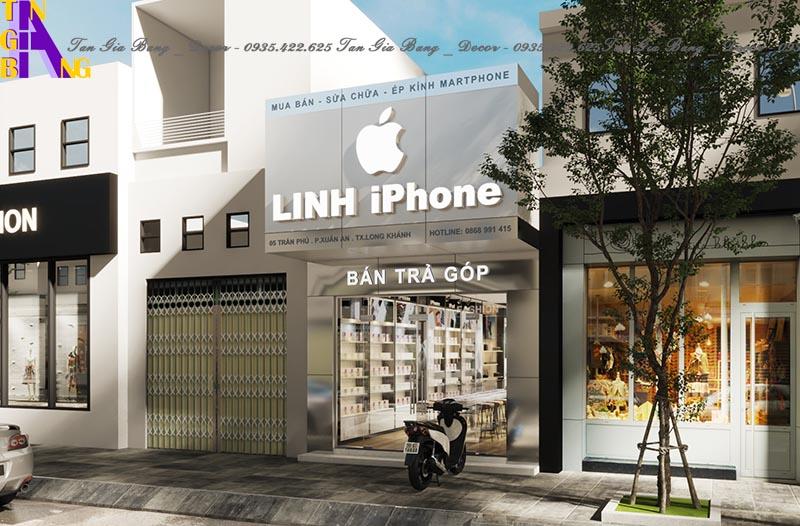 Thiết kế mặt tiền cho shop điện thoại ở Đồng Nai