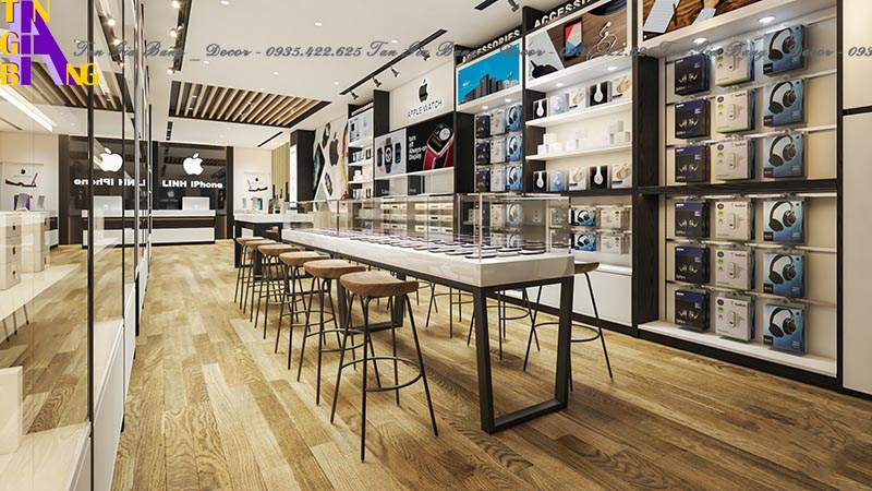 Thiết kế nội thất cho shop điện thoại ở Đồng Nai