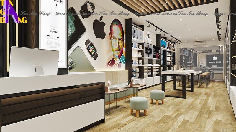 Thiết kế kệ trưng bày cho shop điện thoại ở Đồng Nai