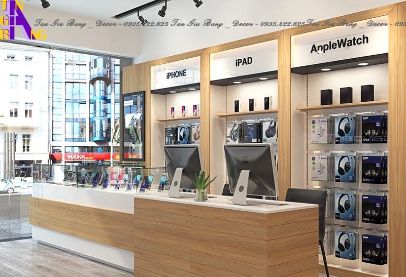 Thiết kế shop điện thoại ở tại Mỹ Tho - Tiền Giang