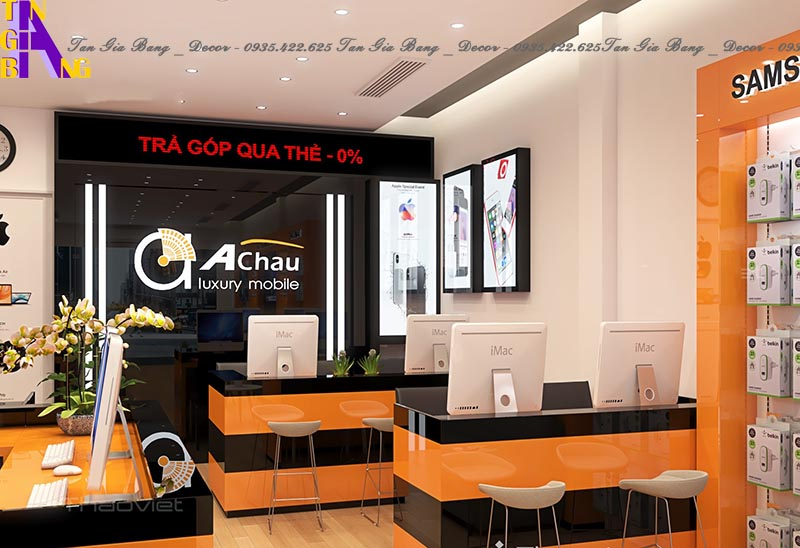 Thiết kế shop điện thoại đẹp ở TP. Tây Ninh
