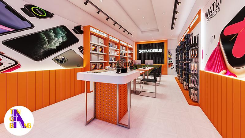 Thiết kế shop điện thoại đẹp và chuyên nghiệp ở TpHCM