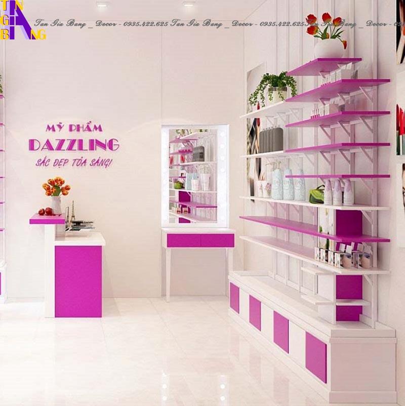 thiết kế shop mỹ phẩm đẹp